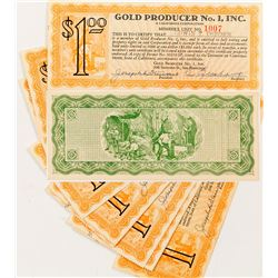 Gold Producer No. 1 Inc. Scrip