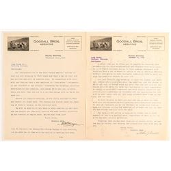 Two Goodall Bros. Assaying Letters (Helena, Montana)