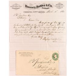 Hussey, Dahler & Co. Letter & Cover, 1871, Dealers in Gold Dust & Coin