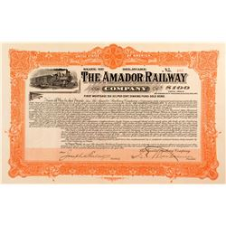 AMADOR, MONTANA: The Amador Railway Company Bond (1905)