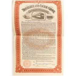 Monterey and Pacific Grove Railway Company Bond (1907)