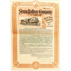 Sierra Railway Company of California Bond