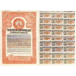 Sacramento and Woodland Railroad Company Bond (1911)