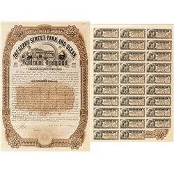 Geary Street Park and Ocean Railroad Company Bond (Charles F. Crocker Sig.) (1891)