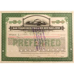 San Francisco, Oakland and San Jose Cons. Railway Stock, 1911