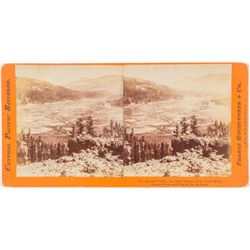 Summit Valley Stereoview by Houseworth, Central Pacific Series