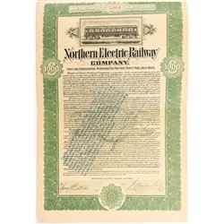 Northern Electric Railway Company Bond (Sacramento Street Railway)
