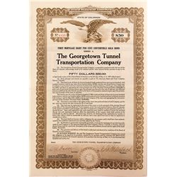 Georgetown Tunnel Transportation Company Bond (1922) (Mining Railroad)
