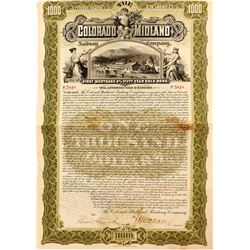 Colorado Midland Railway Company Bond (1897)