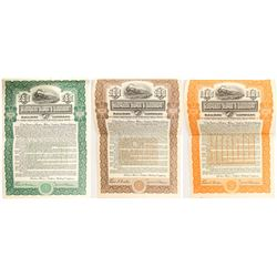 Three Different Aberdeen-Huron & Southern Railway Company Bonds