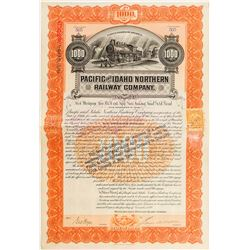 Pacific and Idaho Northern Railway Co. Bond (1899)