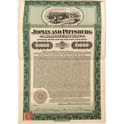 Joplin and Pittsburg Railway Company Bond (Kansas Electric Railway)