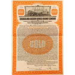 Chicago and Eastern Illinois Railway Company Bond (1921)