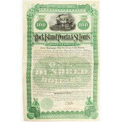 Rock Island, Peoria & St. Louis Railway Company Bond (1891)