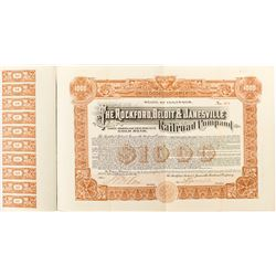 Rockford Beloit & Janesville Railroad Company Bond