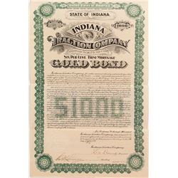 Indiana Traction Company Bond (1898)