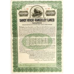 Sandy River and Rangely Lakes Railroad Bond (1908)