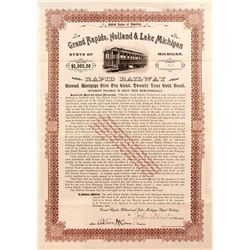 Grand Rapids, Holland & Lake Michigan Rapid Railway Bond (1902)