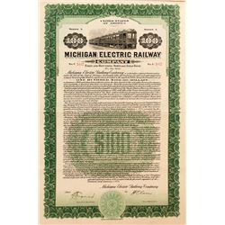 Michigan Electric Railway Company Bond (1923)