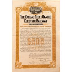 Kansas City and Olathe Electric Railway Company Bond (1903)