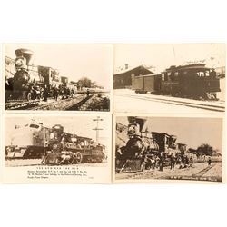 Four Vintage Nevada Railroad Postcards