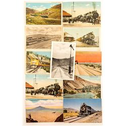 Transcontinental Railroad in Nevada Postcards