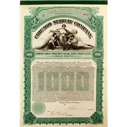 Chicago Subway Company Bond