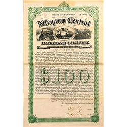 Allegany Central Railroad Company Bond (1882) (Oil Fields)