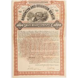 Brooklyn and Brighton Beach Railroad Company Bond (1896)