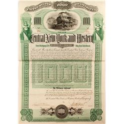 Central New York & Western Railway Company Bond (1892)