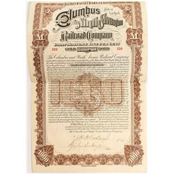 Columbus and Ninth Avenue Railroad Company Bond (1893)