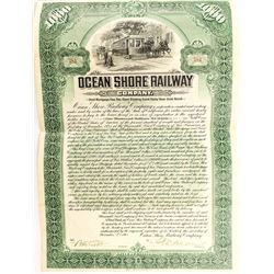 Ocean Shore Railway Company Bond (1905)
