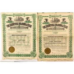 Two Cherryvale Oklahoma & Texas Railway Company Bonds (1908)