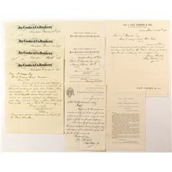 9 Documents from Office of Jay Cooke & Co., Northern Pacific Railroad