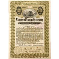 Frankford, Tacony & Holmesburg Street Railway Company Bond (1910)
