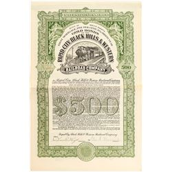 Rapid City, Black Hills & Western Railroad Company Bond
