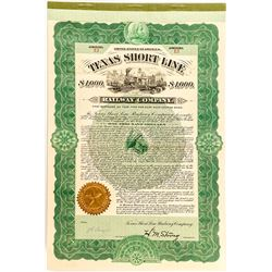 Texas Short Line Railway Company Bond (1902)