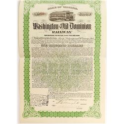 Washington and Dominion Railway Bond (1911)