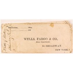 Wells Fargo Envelope to Ramsey [sic.] c.1860s