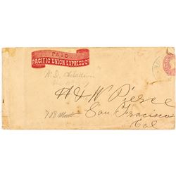 Pacific Union Express Cover addressed to H&W Pierce of San Francisco.