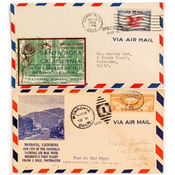 Santa Rosa & Monrovia First Flight Covers
