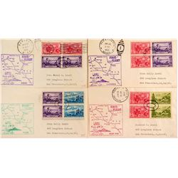 Four Minnesota First Flight Covers