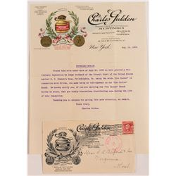 "Pictorial Mustard Letterhead & Cover ""Held for Postage"""