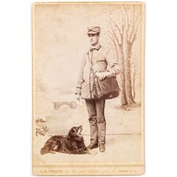 Cabinet Card of the Keene, New Hampshire Mail Carrier