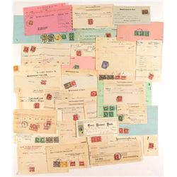 Official Stamped Documents: Stamps are Nicely Cancelled