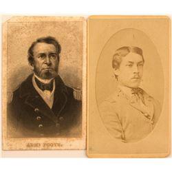 2 CDV's of Civil-War Era Naval Officers
