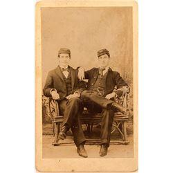 CDV of 2 US Militia Soldiers, Post-Civil War