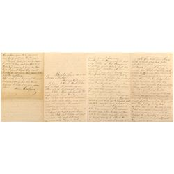 Civil War Letter about Man Wanting to Head West
