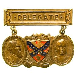 Confederate Veteran Delegate Badge