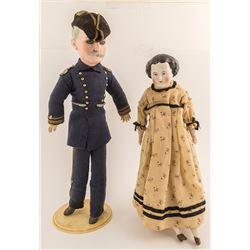 Two Civil War Era Dolls